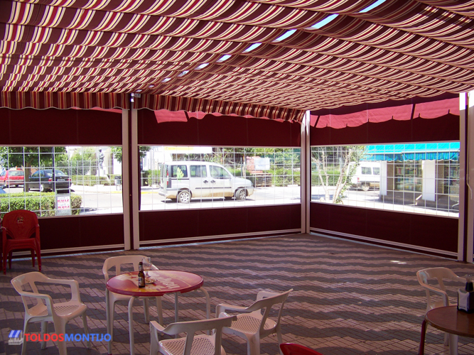 Toldos Montijo, Toldos de bares interior terraza 2