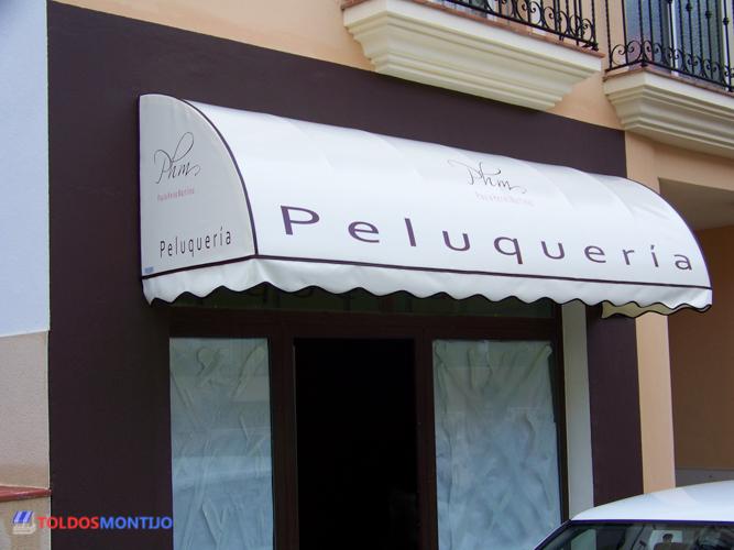 Toldos Montijo, capota de peluquería entrada